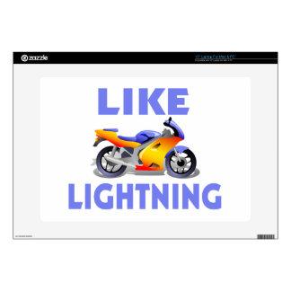 Like Lightining Street Bike Laptop Skins