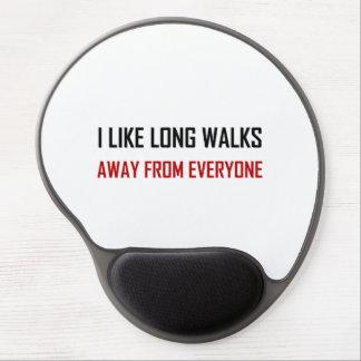 Like Long Walks Away From Everyone Gel Mouse Pad