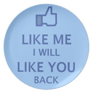 Like me and i will like you back Plates