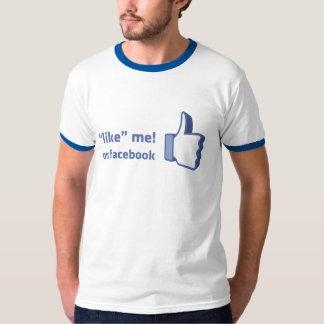 like me on facebook shirt