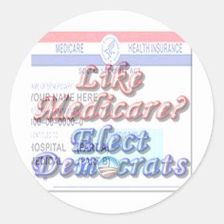 Like Medicare? Round Sticker