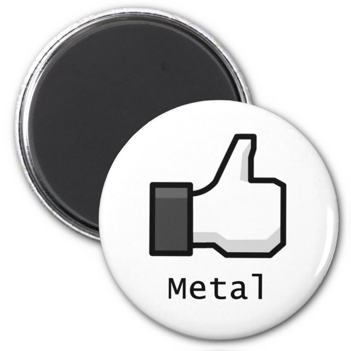 Like Metal 2 Inch Round Magnet