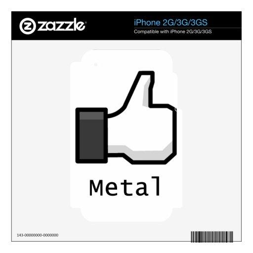Like Metal iPhone 3G Skins