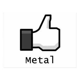 Like Metal Postcard