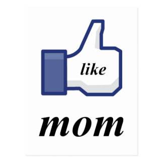 LIKE MOM POSTCARD