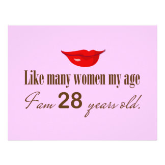 Like Most Women My Age - I am 28 Years Old Letterhead Design