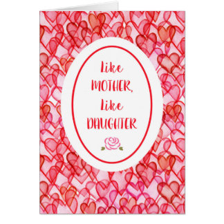 Like Mother Like Daughter Happy Mother's Day Card