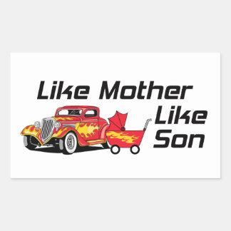 Like Mother Like Son Rectangular Sticker