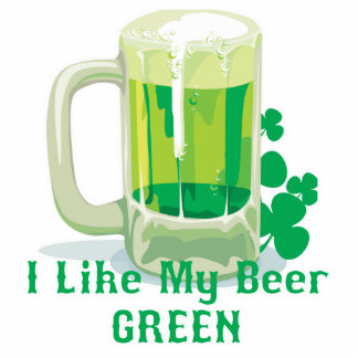 Like my beer GREEN Standing Photo Sculpture