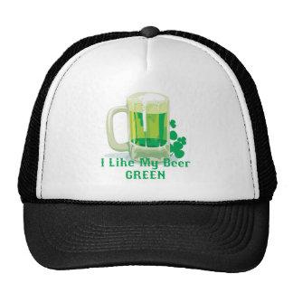 Like my beer GREEN Trucker Hat