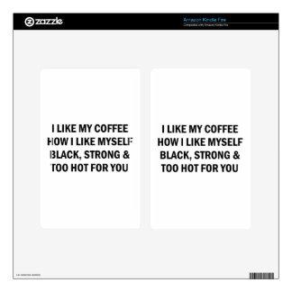 Like My Coffee Kindle Fire Decals