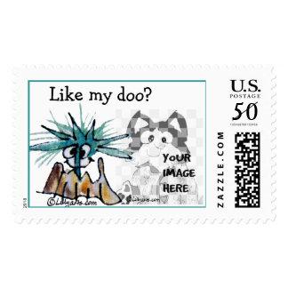 Like My Doo?  Hair Stylist Custom Postage Stamp