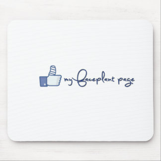Like my faceplant page design! mouse pads