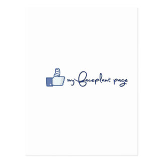 Like my faceplant page design! postcard