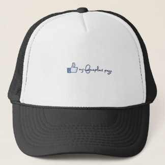 Like my faceplant page design! trucker hat
