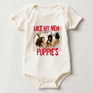 like my new puppies baby bodysuit