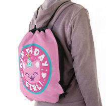 Like Nastya   Birthday Girl! Drawstring Bag