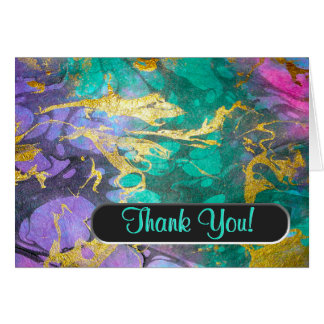 Like Oil and Water Thank You Note (Personalized) Card