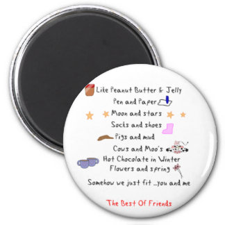 Like Peanut Butter and Jelly 2 Inch Round Magnet