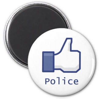 Like Police 2 Inch Round Magnet