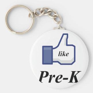 LIKE PRE-K BASIC ROUND BUTTON KEYCHAIN