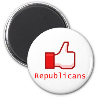 Like Republicans 2 Inch Round Magnet