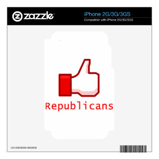 Like Republicans iPhone 3 Decals