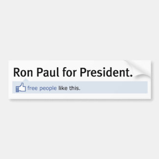 Like Ron Paul Bumper Sticker