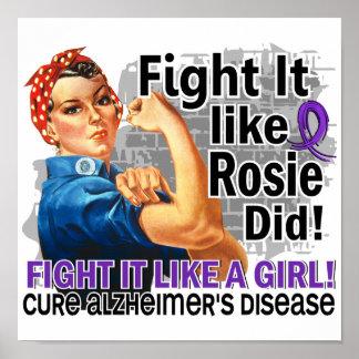 Like Rosie Did Alzheimer s Poster