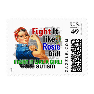 Like Rosie Did Cure Autism Postage Stamp