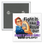 Like Rosie Did Cure Epilepsy.png Pinback Buttons