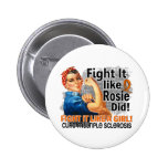 Like Rosie Did Cure MS.png Pinback Button