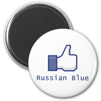 Like Russian Blue 2 Inch Round Magnet