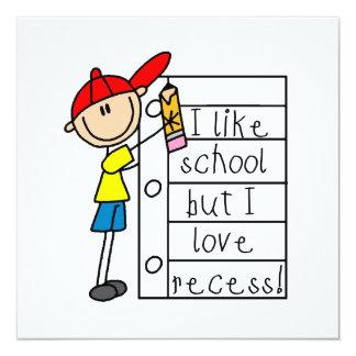 Like School Love Recess Personalized Invitations