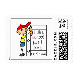 Like School Love Recess Postage Stamps