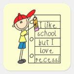 Like School Love Recess Sticker