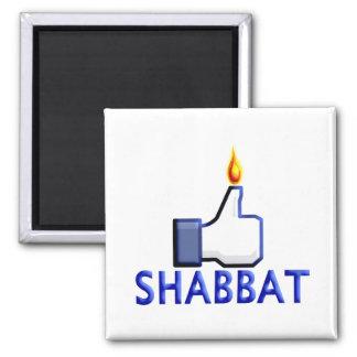 Like Shabbat 2 Inch Square Magnet