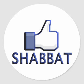 Like Shabbat Classic Round Sticker