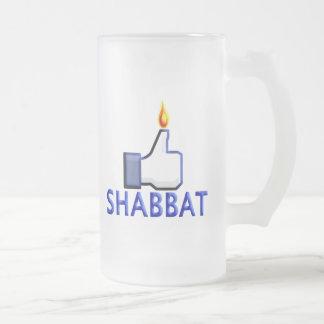 Like Shabbat Frosted Glass Beer Mug