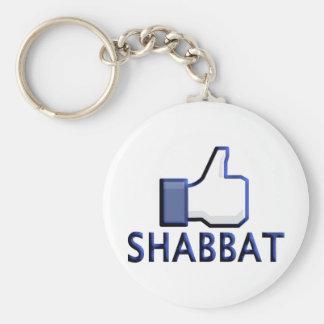 Like Shabbat Basic Round Button Keychain