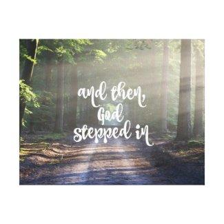 Like Sunbeams Bursting Through, God Stepped In Canvas Print