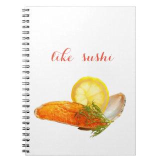 like sushi notebook