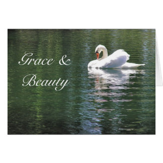 LIKE SWAN YOU STILL HAVE GRACE AND BEAUTY/BIRTHDAY CARD