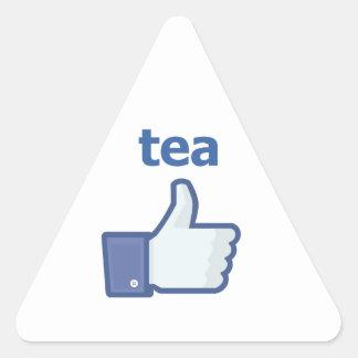 LIKE tea Triangle Sticker