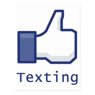 Like Texting Postcard