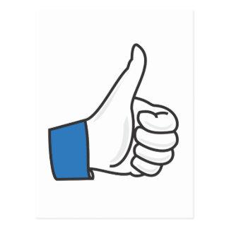 Like Thumb Up Fun Postcard
