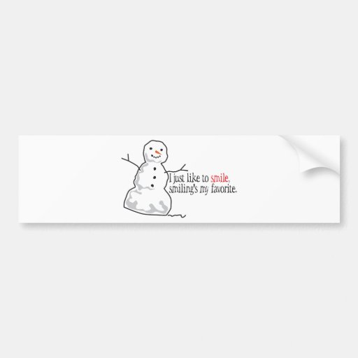 Like To Smile Bumper Stickers