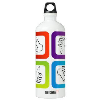 Like unlike symbols water bottle