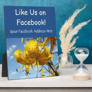 Like Us on Facebook Counter Retail Service Signs Plaque