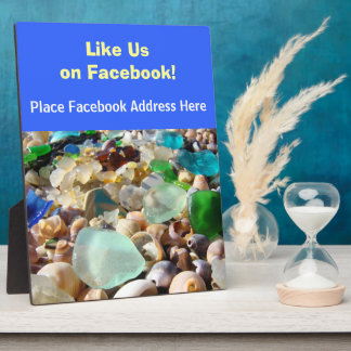 Like Us on Facebook Counter Sign Plaque custom